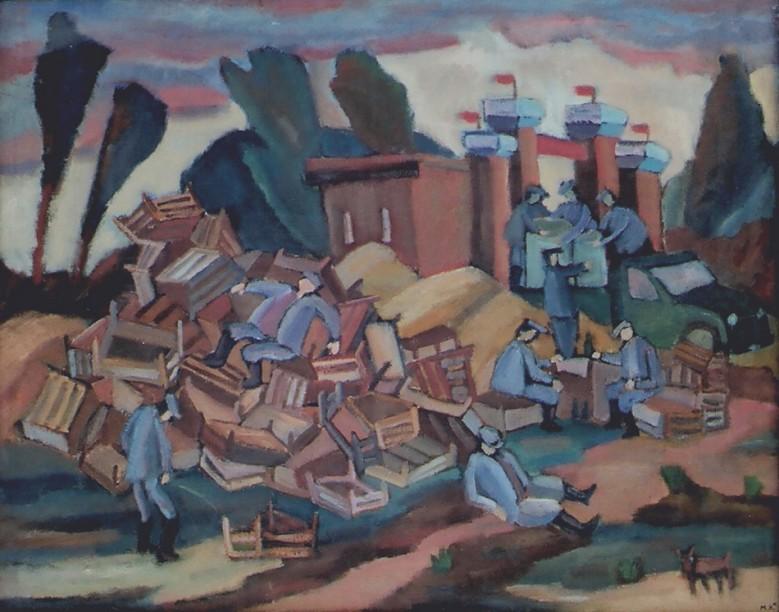 """""""После работы"""". Холст, масло 90Х110 1980"""