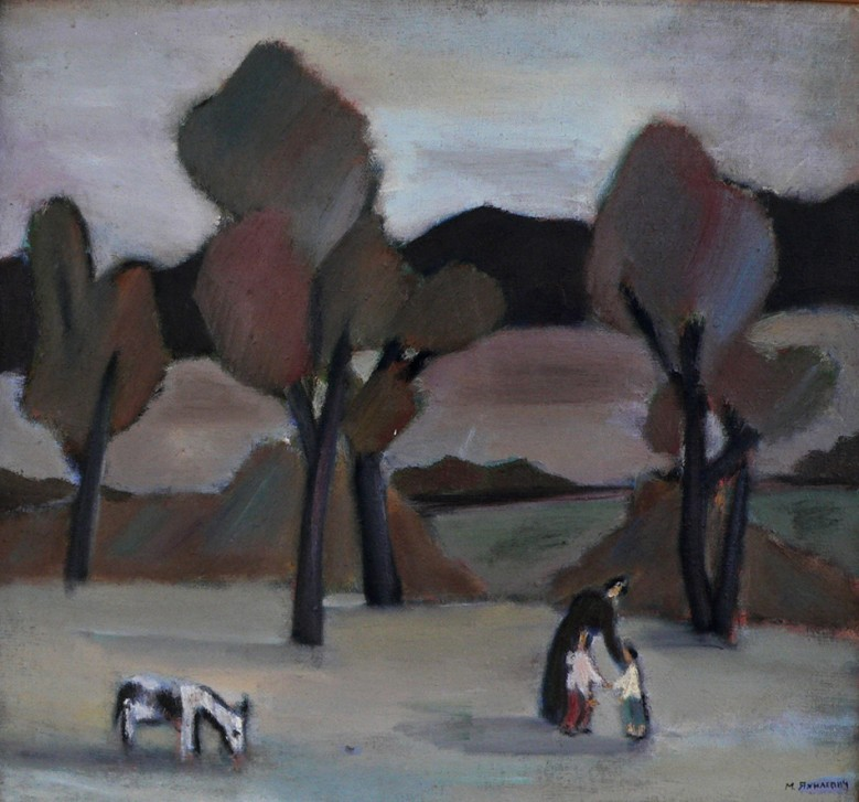 Landscape with the doe-kid