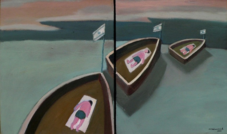Three boats. Diptych.